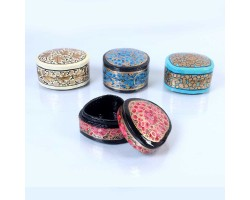 Heart Rounded Papermache Box(Set of 4)