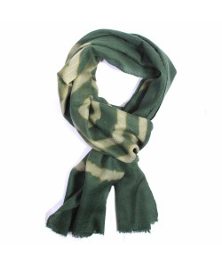 Green and Yellow  Dip Dye Cashmere Pashmina Scarf