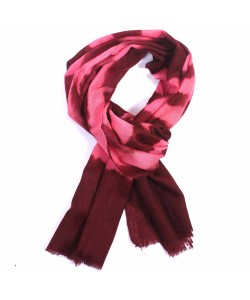 Pink and Red Dip Dye Cashmere Pashmina Scarf
