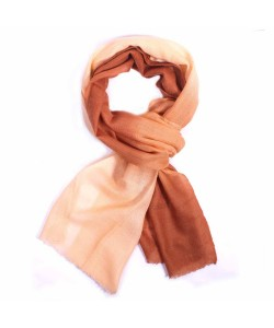 Shades Of Brown Dip Dye Cashmere Pashmina Scarf