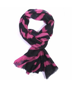 Violet And Black  Dip Dye Cashmere Pashmina Scarf